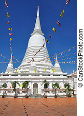 White Pagodas with flags