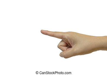 hand with index finger point out forward