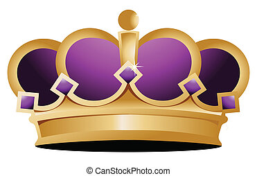 crown illustration design over a white background