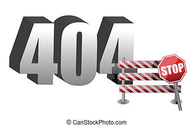 Computer error 404