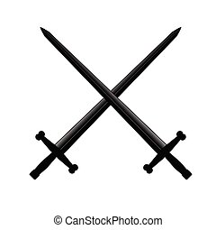 swords vector illustration