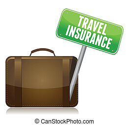 Travel Insurance concept isolated over a white background