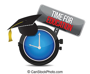 clock with words time for education