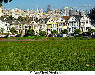 Victorian houses in Alamo Square, San Francisco