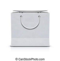 Paper shopping bag - illustration of white shopping paper...