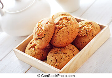 cookies in the wooden box