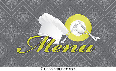 Menu template Vector illustration