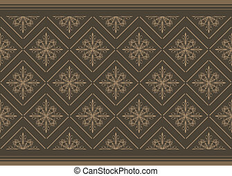 Dark brown ornamental background. Vector illustration