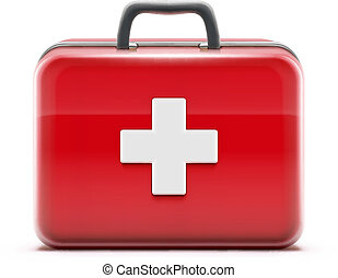 first aid box - Vector illustration of healthcare concept...