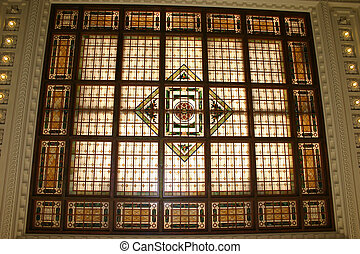 Stained Glass Ceiling - The stained glass ceiling of the...