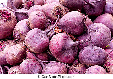 Beet root - Bunch of beet root vegetables fresh and organic...