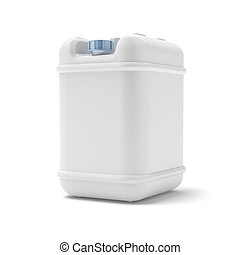 Oil canister isolated on a white background