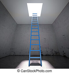 Ladder to the exit the dark