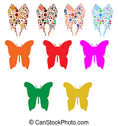 A huge set color butterfly