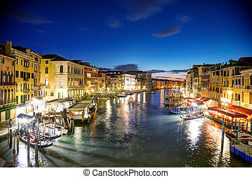 Venice at night time