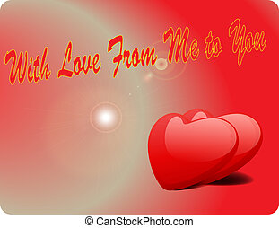Valentine Love Card - With Love From Me To You III