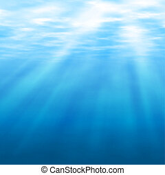 Undersea light - Editable vector illustration of sunlight...