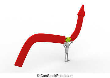 Person Holding Line Graph