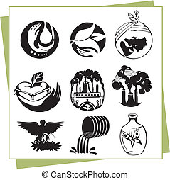 Eco Design Elements and Icons - Ecology - vector...