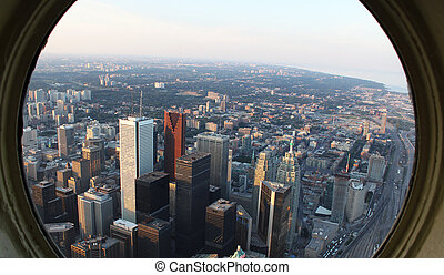 Downtown Toronto - View of downtown Toronto from the CN...