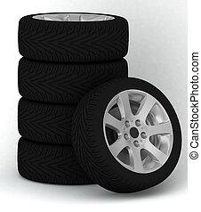 Wheels - Five wheels