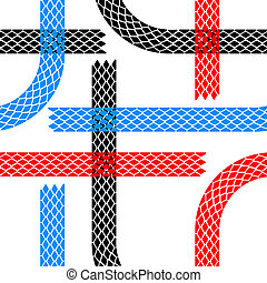 Seamless wallpaper tire tracks pattern illustration vector...