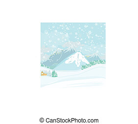 winter landscape - vector