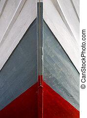 Schooner bow - Makassar schooners (pinisi) in Sunda Kelapa,...