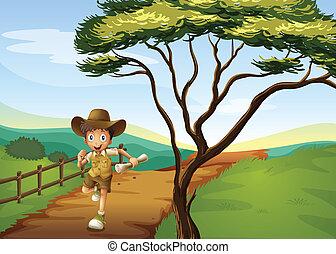 A boy running