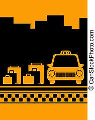 taxi, ciudad, bolsa, Plano de fondo