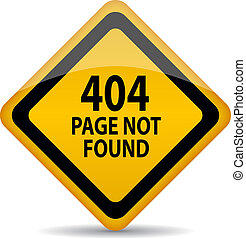 404 page not found vector sign isolated on white