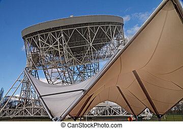 Radio Telescope - The radio telescopes at Jodrell Bank in...