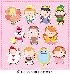 cartoon story people icons - Cartoon story people...