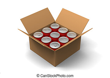 Cans in a box