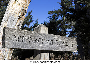 Appalachian Trail sign - Appalachian Trail wooden sign