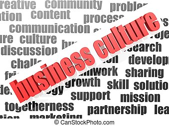 Business work of business culture - Rendered artwork with...