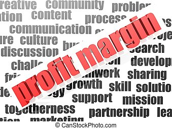 Business work of profit margin - Rendered artwork with white...