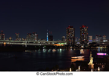 Night view of Odaiba.