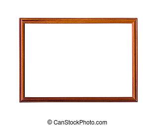 Wooden picture frame. - Wooden picture frame isolated on...