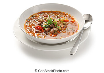 minestrone soup - homemade vegetable soup, italian cuisine