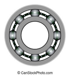 Ball bearing for vector design. Files included - EPS8, CS3,...
