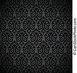 Seamless black note book cover