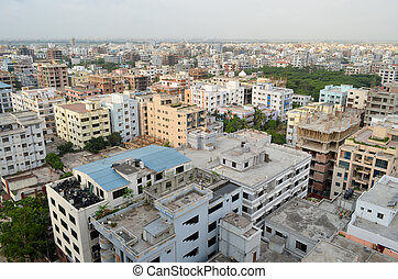 Dhaka City - A view if Dhaka city taken from another 20...