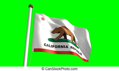 California flag - California (seamless & green screen)