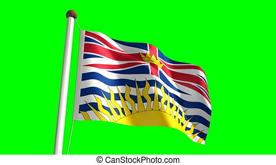 British Columbia flag seamless green screen