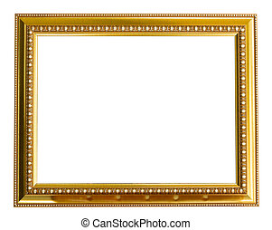 Picture gold frame .