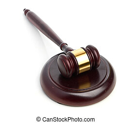 Judges gavel isolated on white