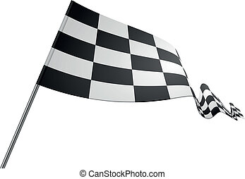 racing flag - detailed illustration of a racing flag on a...
