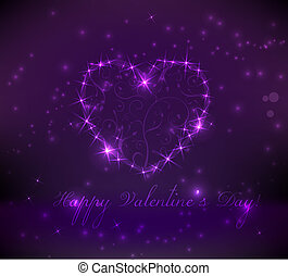 Abstract valentine's day background in purple colors