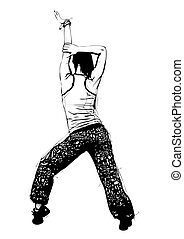 aerobics pose - illustration of aerobics pose